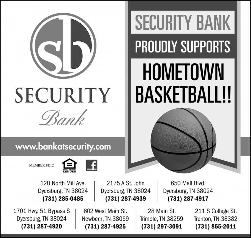 Proudly Supports Hometown Basketball!