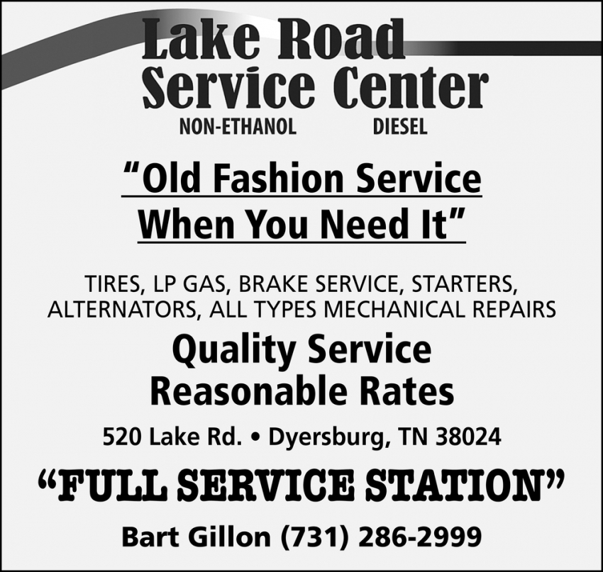 Old Fashion Service When You Need it