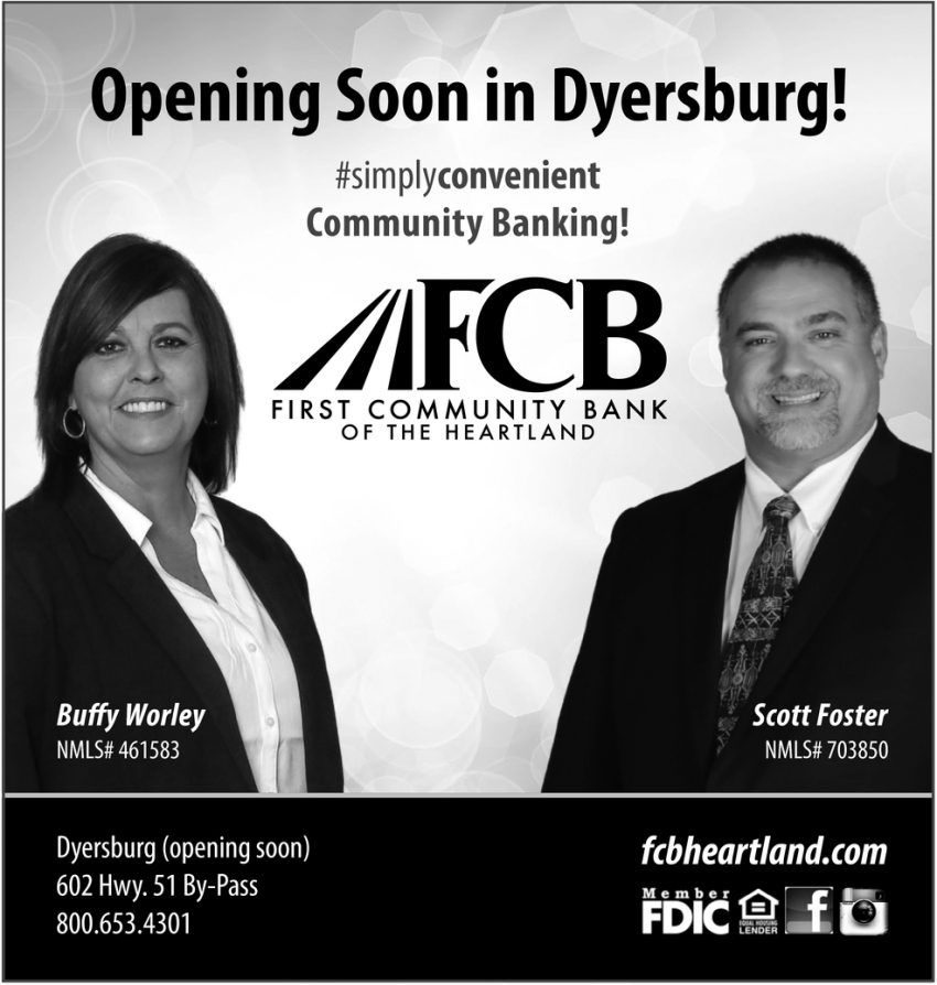 Opening Soon in Dyersburg!