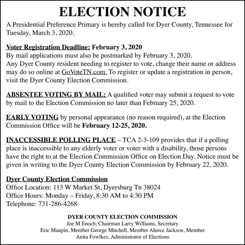 Election Notice
