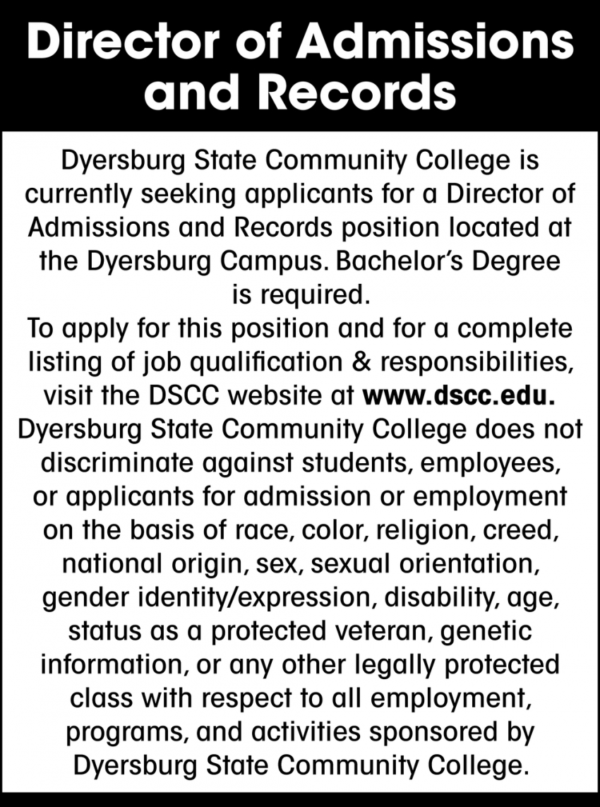 Director of Admissions and Records