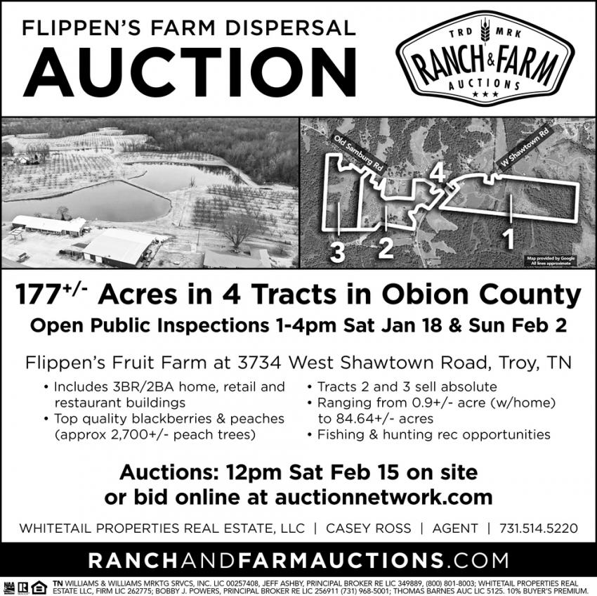 Flippen's Farm Dispersal Auction