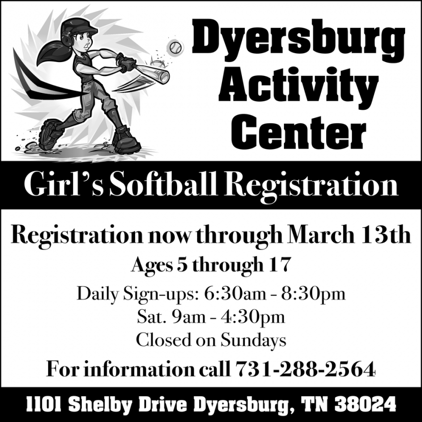 Girls Softball Registration