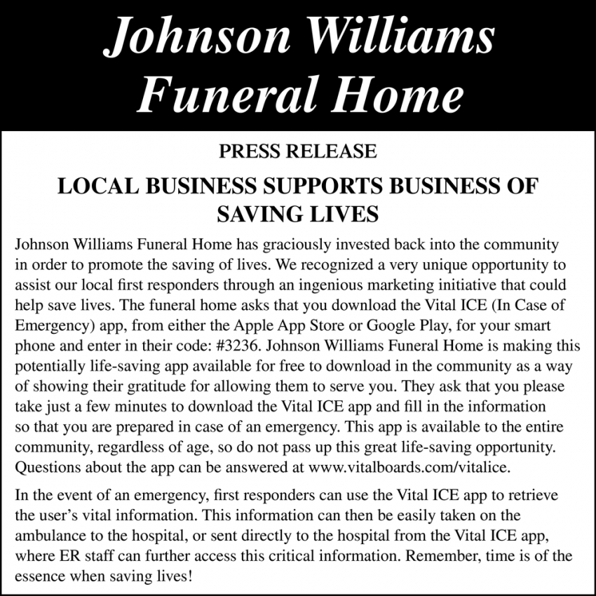 Local Business Supports Business of Saving Lives