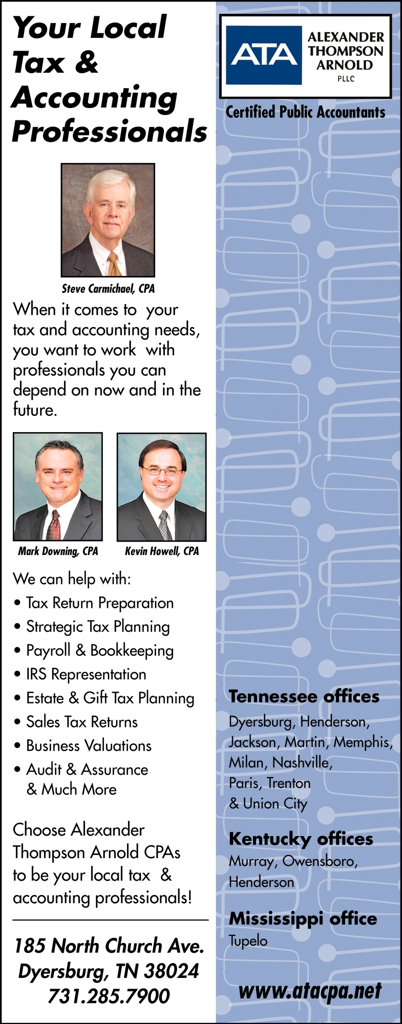 Your Local Tax & Accounting Professionals
