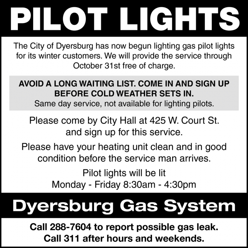 Pilot Lights